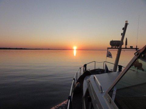 linssen yacht zonsondergang